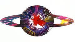 """Saturn Spin Art"", Made at Damien Hirst Spin Workshop"