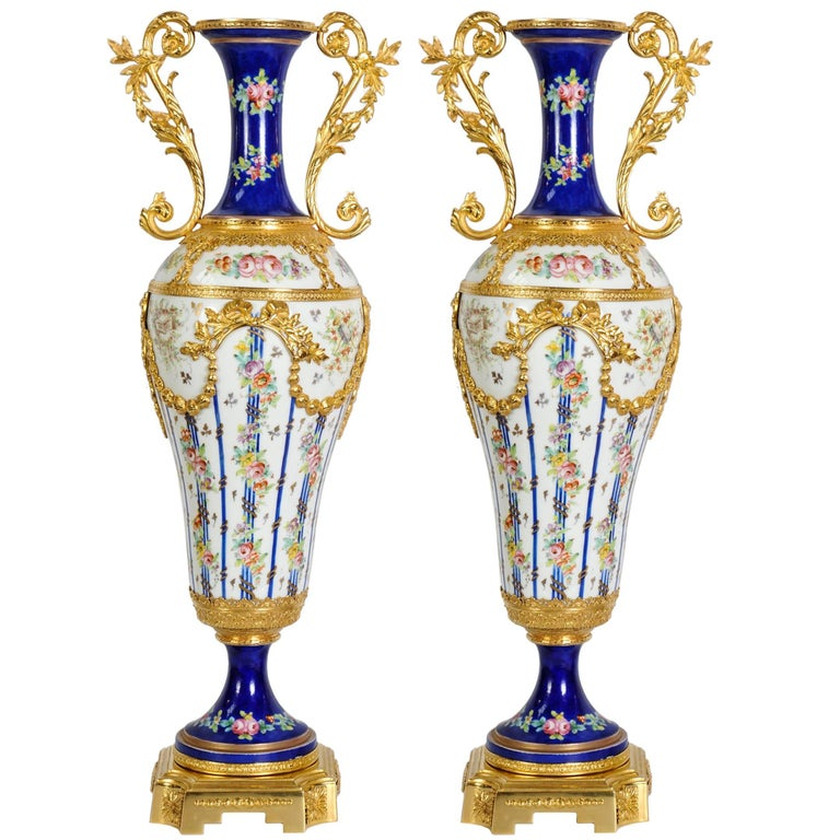 Pair Of Porcelain Of Svres Vases For Sale At 1stdibs