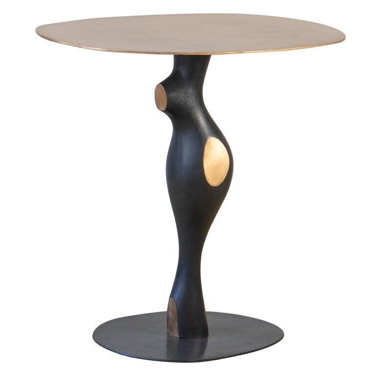 "Bronze Pedestal Table by Jacques Jarrige ""Bella"""