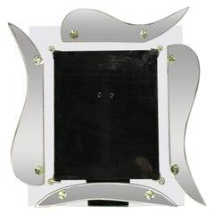 Hollywood Regency Mirrored Photo Frame