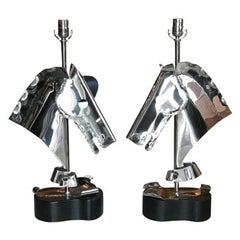 Heifetz Horse Head Table Lamps