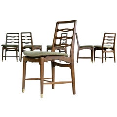 Set of Six Ole Wanscher Attributed Danish Midcentury Dining Chairs