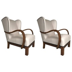 Pair of Art Deco Danish Modern Armchairs
