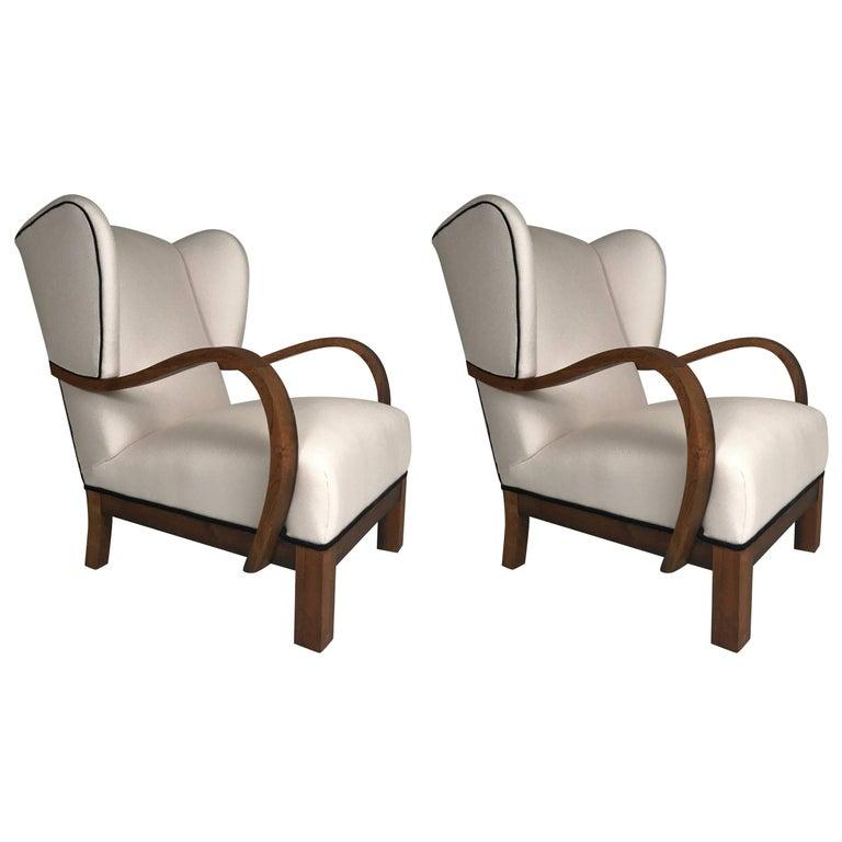 Pair of Art Deco Danish Modern Armchairs