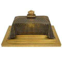 19th Century French Empire Inkwell in Memoriam of Napoleon I