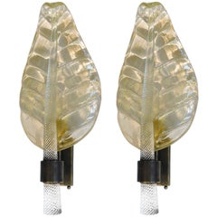 Murano Gold Leaf Sconces