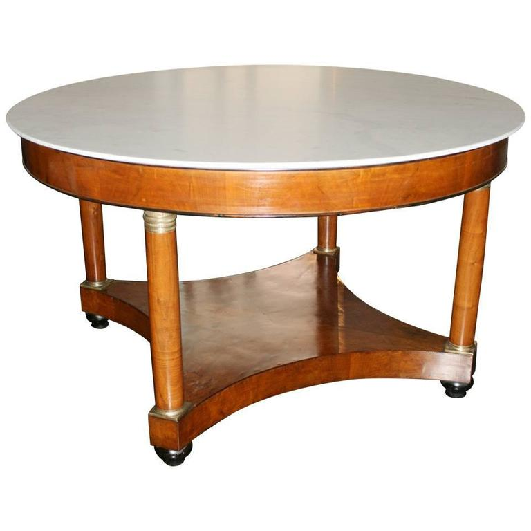 19th century large empire center table for sale at 1stdibs for Table th center