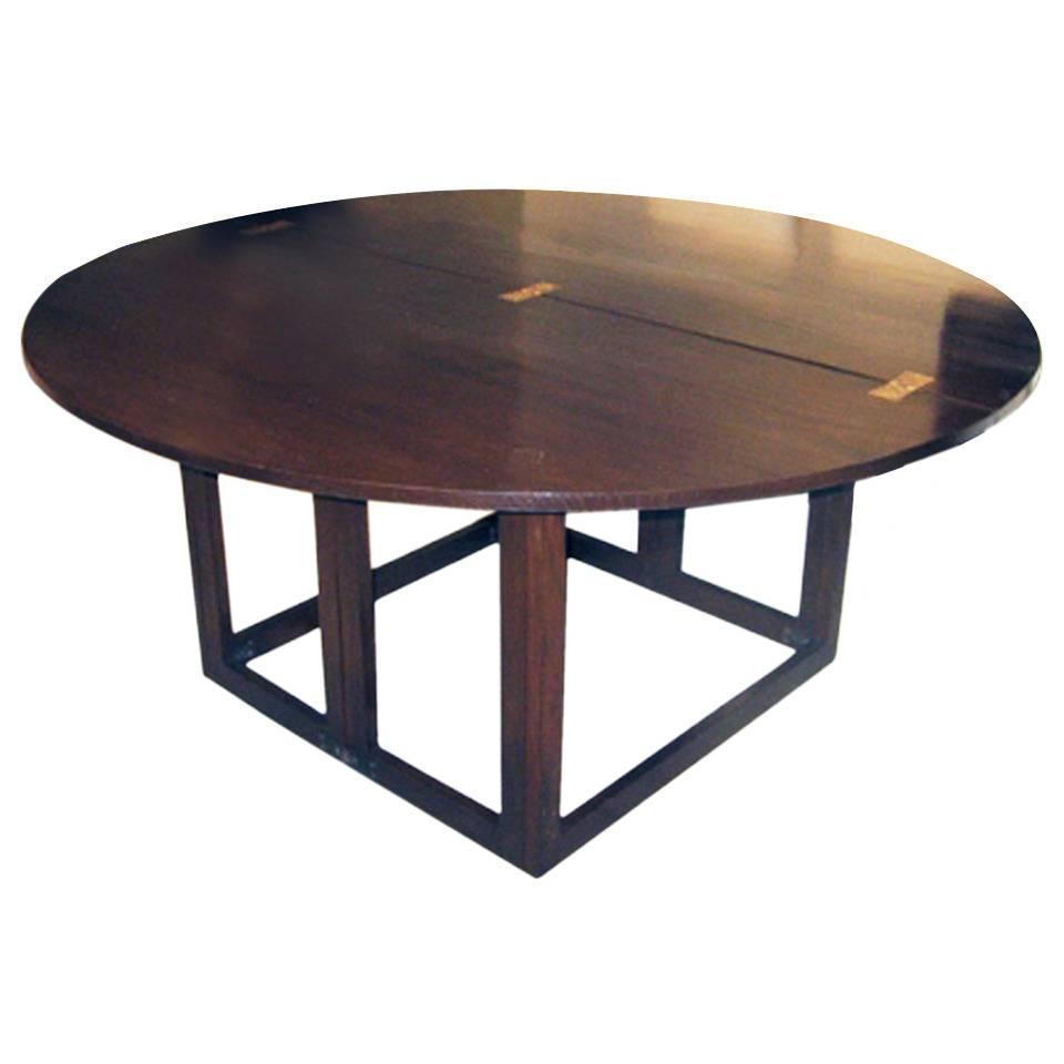 Contemporary oak dining table for sale at 1stdibs for Contemporary oak dining table