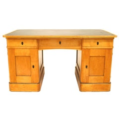 Swedish Biedermeier Style Kneehole Desk