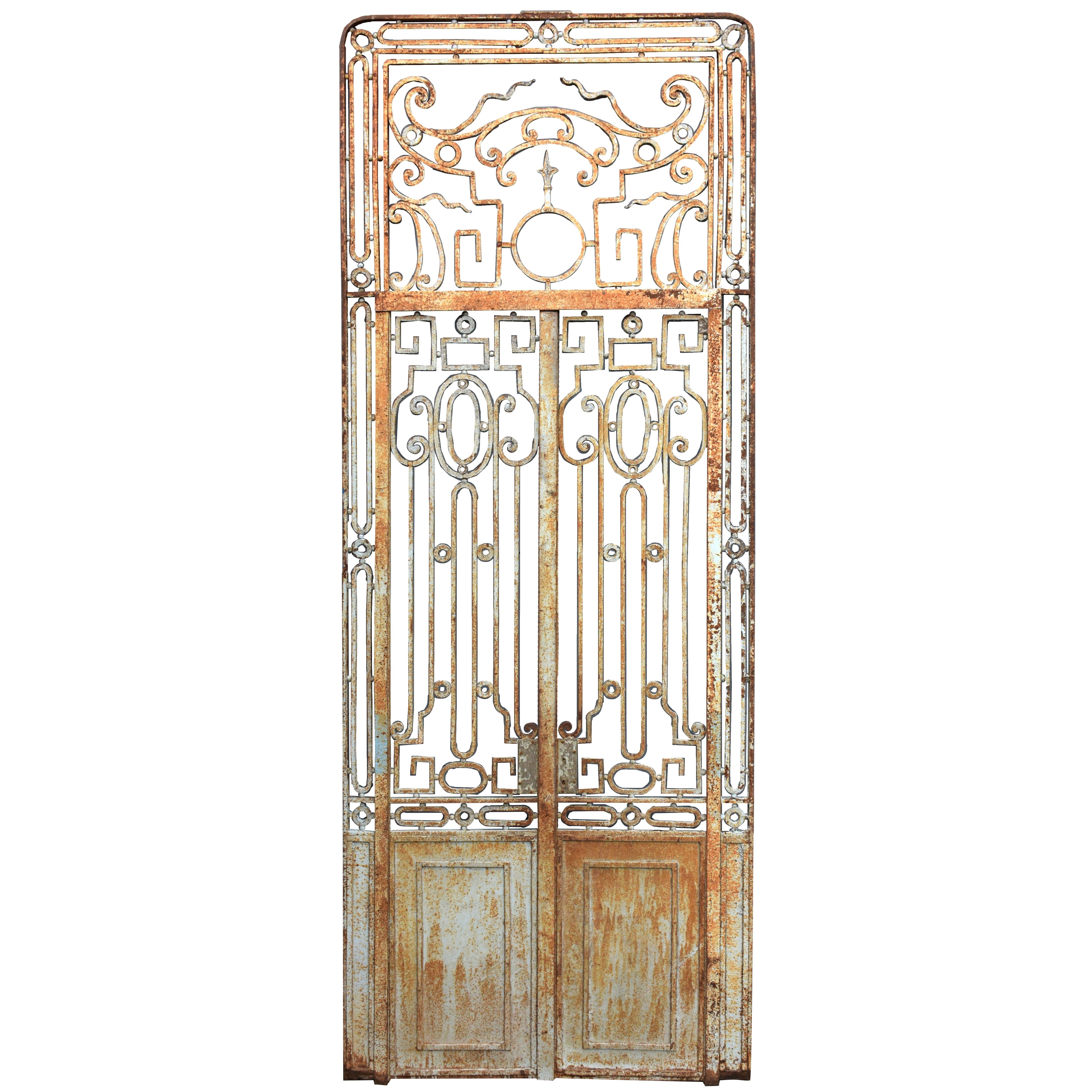 Antique Large Wrought Iron Gate Doors