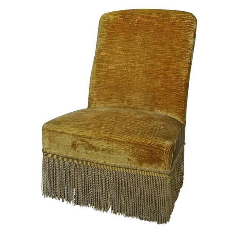 single napoleon iii slipper chair 1