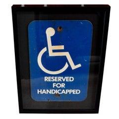 Porcelain Handicapped Sign