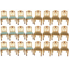 Set of 24 Painted Dining Chairs in Manner of Maison Jansen
