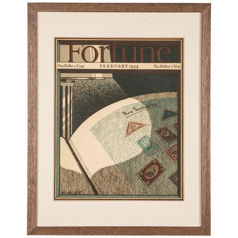 Original Framed Copy of Fortune Magazine