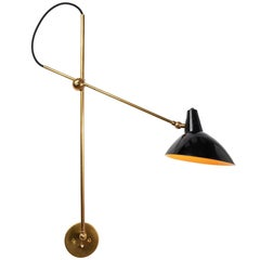 1950s Gino Sarfatti Articulating Wall Light for Arteluce