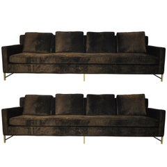Paul McCobb Sofas on Brass Bases