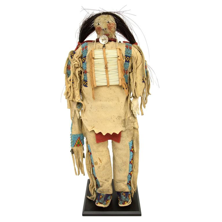 Antique Native American Doll, Sioux 'Plains Indian,' 19th Century