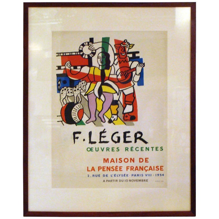 Fernand Leger Exhibition Poster For Sale