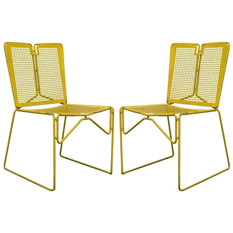 Vintage Perforated Steel Chairs