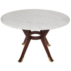 Mexican Modernist Round Dining Table Attributed to Arturo Pani