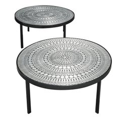 Raf Verjans Rare Pair of Mosaic Coffee Tables