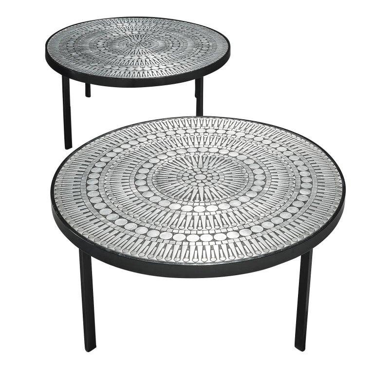 Raf Verjans Rare Pair of Mosaic Coffee Tables