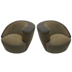 Vladimir Kagan for Directional Pair of Corkscrew Chairs