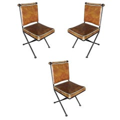 "Set of Three Mid-Century ""Directors Chair"" Chairs"