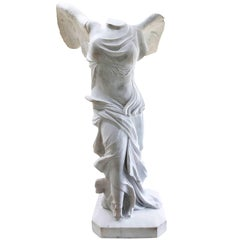 19th Century Grand Tour Marble Winged Victory