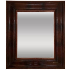French 1940s Mahogany Rectangular Mirror