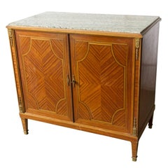 French Cabinet with Marble Top