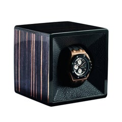 Black Watch Winder Lined in Leather by Agresti