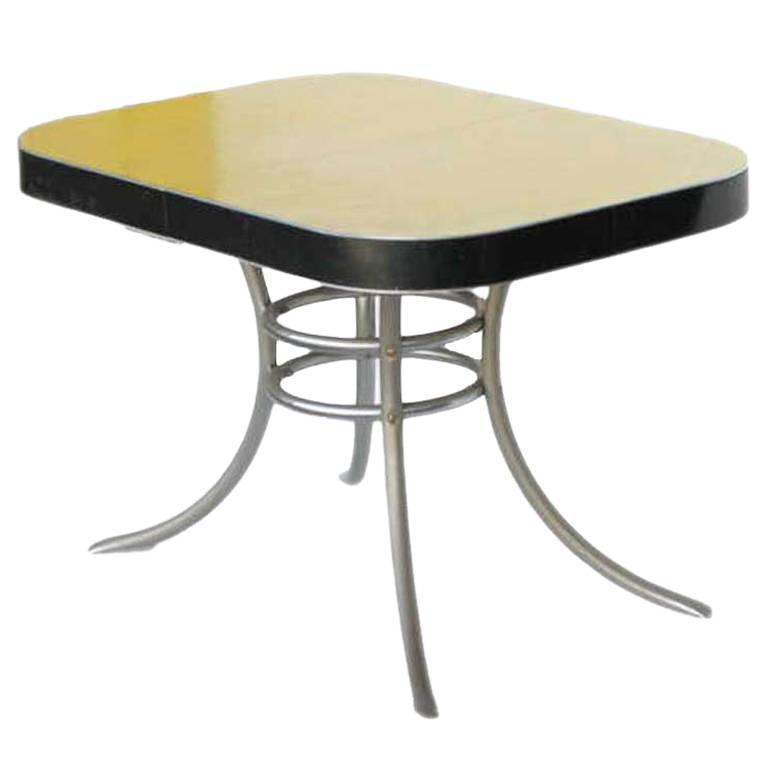 Mid century formica kitchen table with chrome legs saturday sale for sale at 1stdibs - Formica top kitchen tables ...