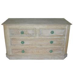 French Cerused Oak Commode