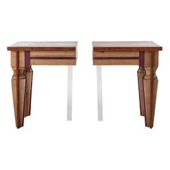 Contemporary Couple of Just Contrast Side Tables by Hillsideout, 2016