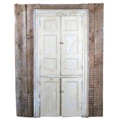 Antique 19th Century Greek Revival Wall Cupboard