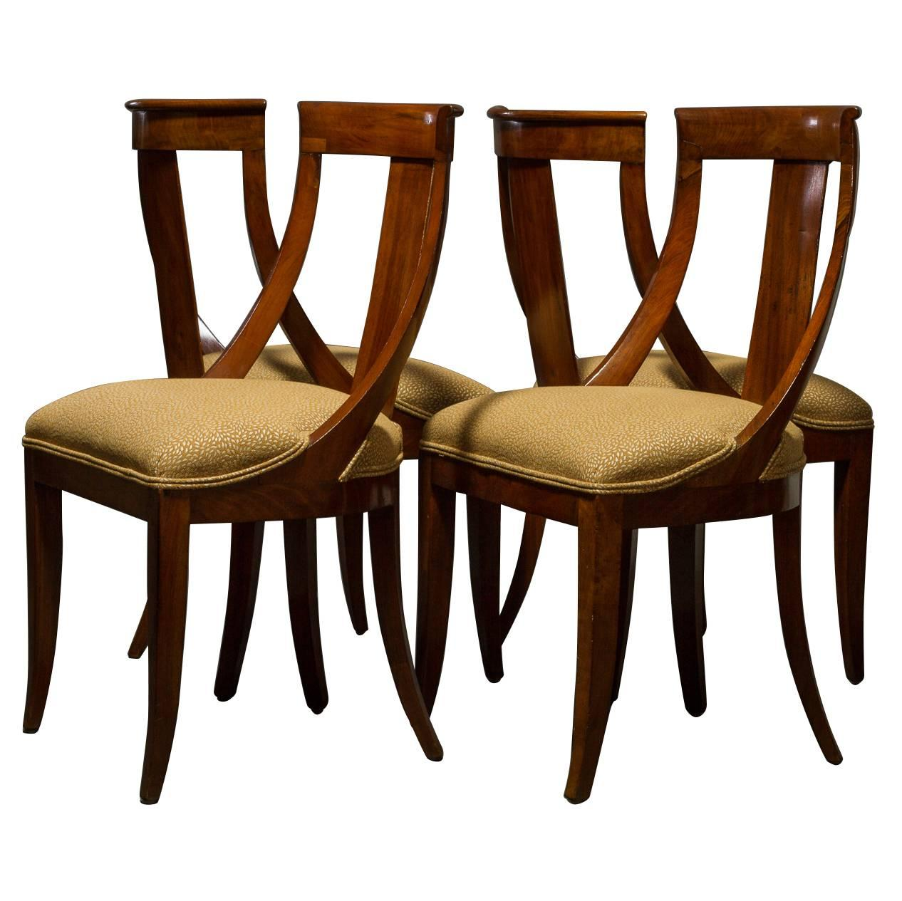 Set Of Four Biedermeier Chairs 1