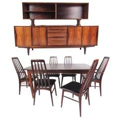 Scandinavian Modern Rosewood Dining Room Set