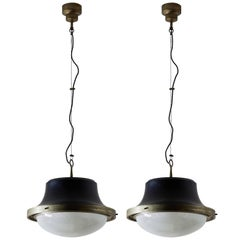 Two Tau Pendant Lights by Sergio Mazza for Artemide