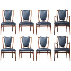 Andrew J Milne Rosewood Set of Eight Chairs, England, circa 1960