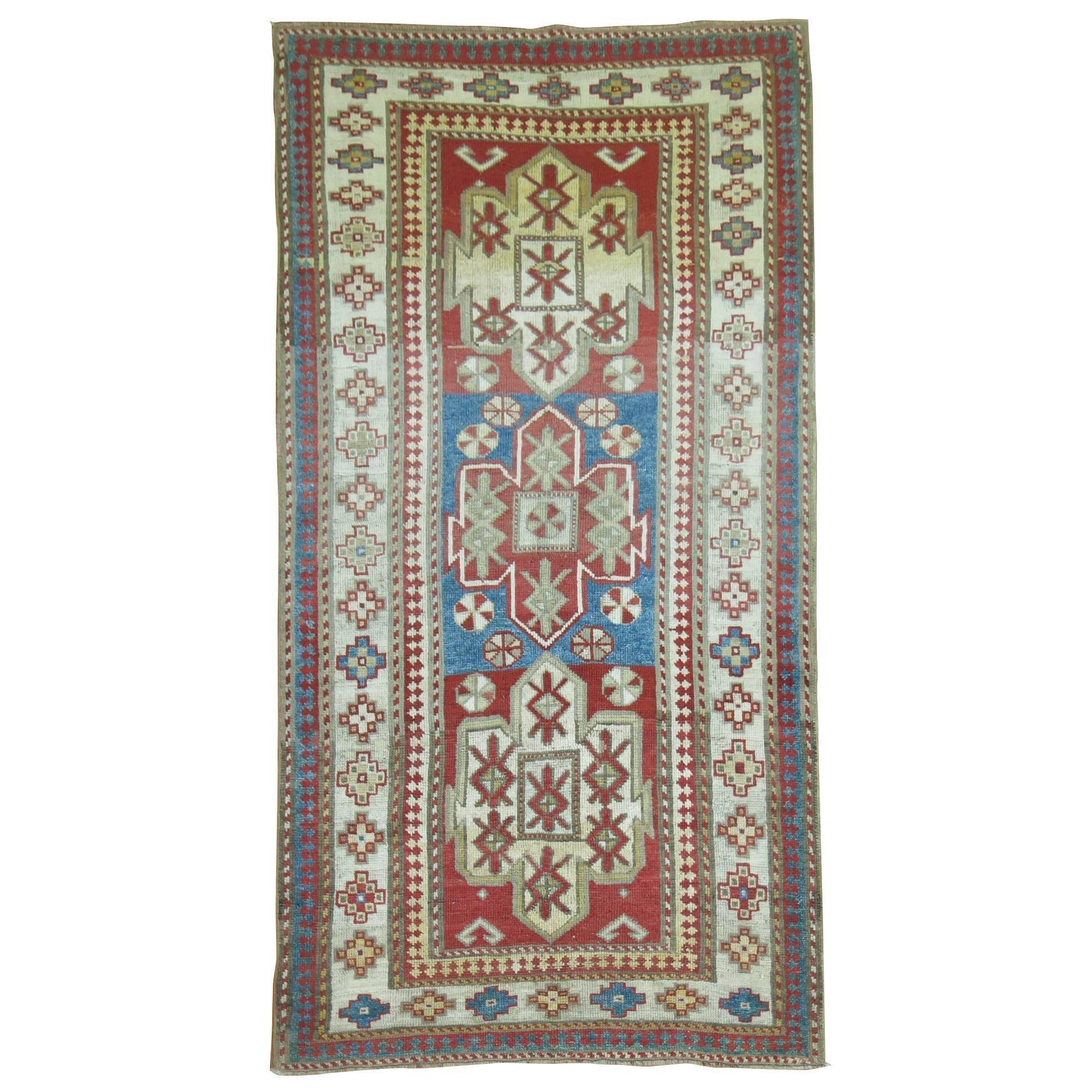 Antique Bordjalou Kazak Rug