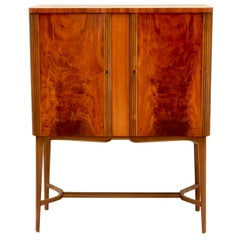 Swedish Art Moderne Bar Cabinet by Reimers Möbler in Flame Mahogany, circa 1948