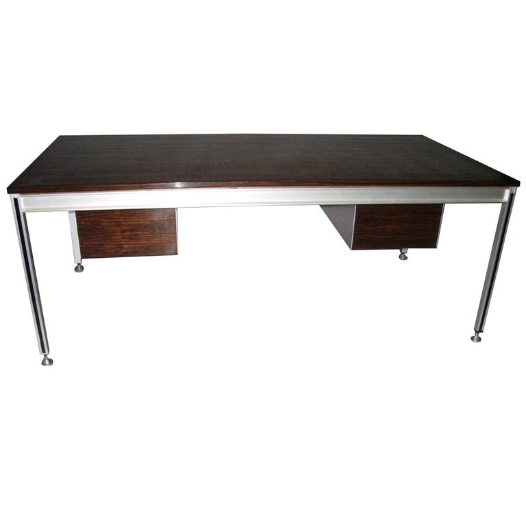 Executive Desk by C. Gaillard & H. Lesetre for TFM, France, circa 1965 For Sale