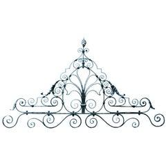 19th Century Wrought Iron Gate Overthrow