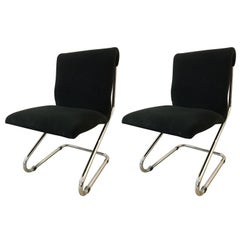 Pair of Mid-Century Modern Pace Chrome Cantilever Chairs