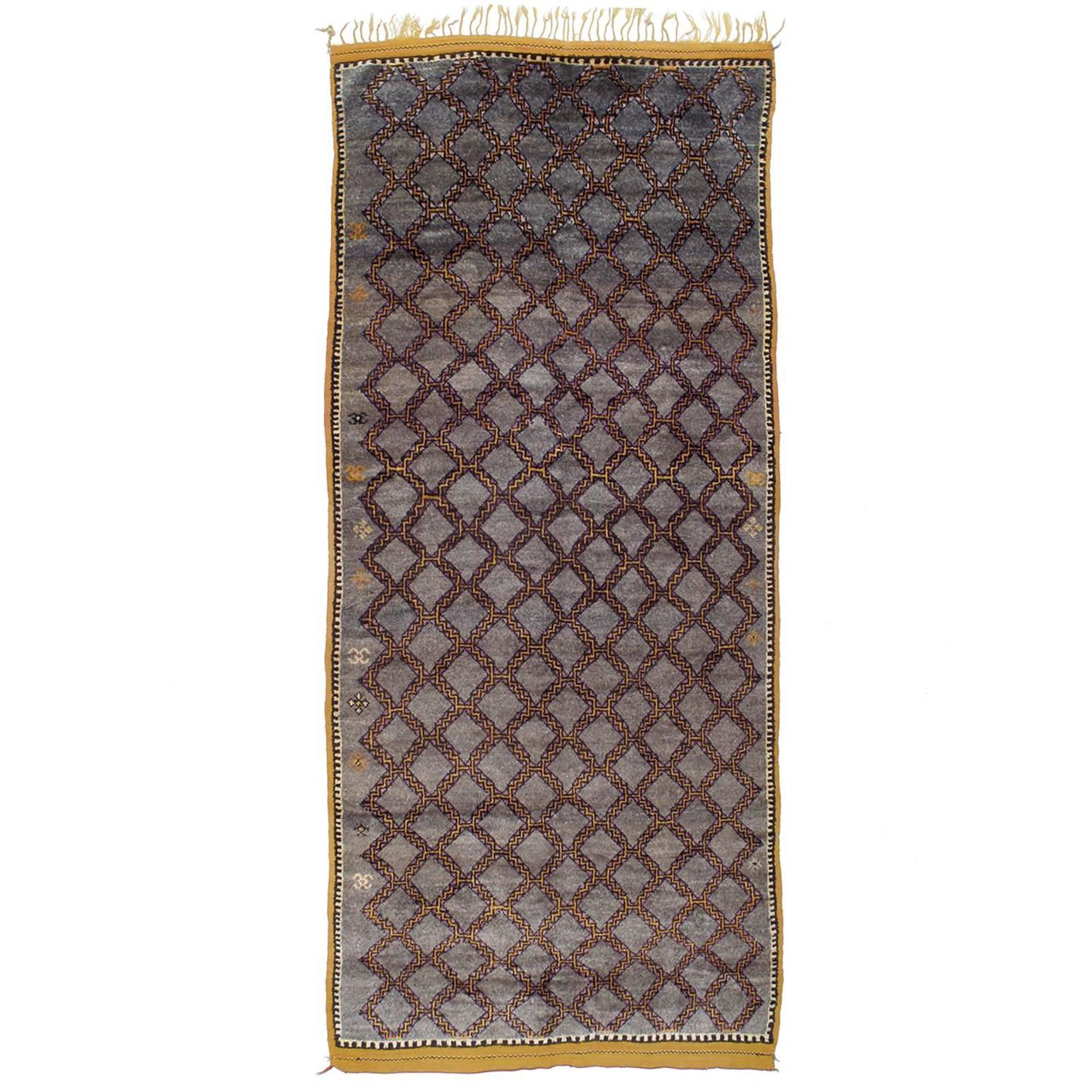 Elegant Moroccan Berber Carpet For Sale At 1stdibs