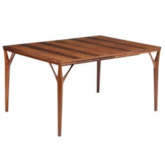 Danish Rosewood Dining Table circa 1950s Attributed to Helge Vestergaard Jensen
