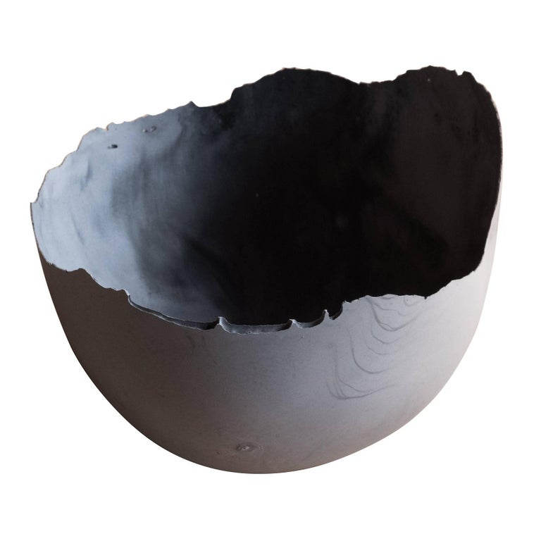 Umé Studio handmade cast-concrete bowl in gray, 2017