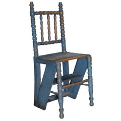 Allmoge Swedish Ladder Chair, Origin, Sweden, circa 1820