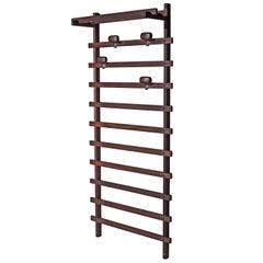 Teak Coat Rack with Adjustable Hooks